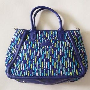 VERA BRADLEY blue multi color satchel